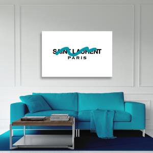 Tableau plexiglas Paon bleu